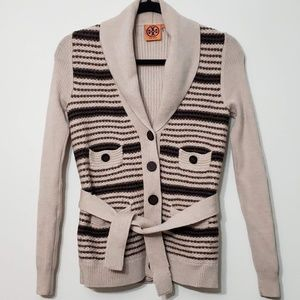 Tory Burch Knit Button Front Cardigan Sweater, XS